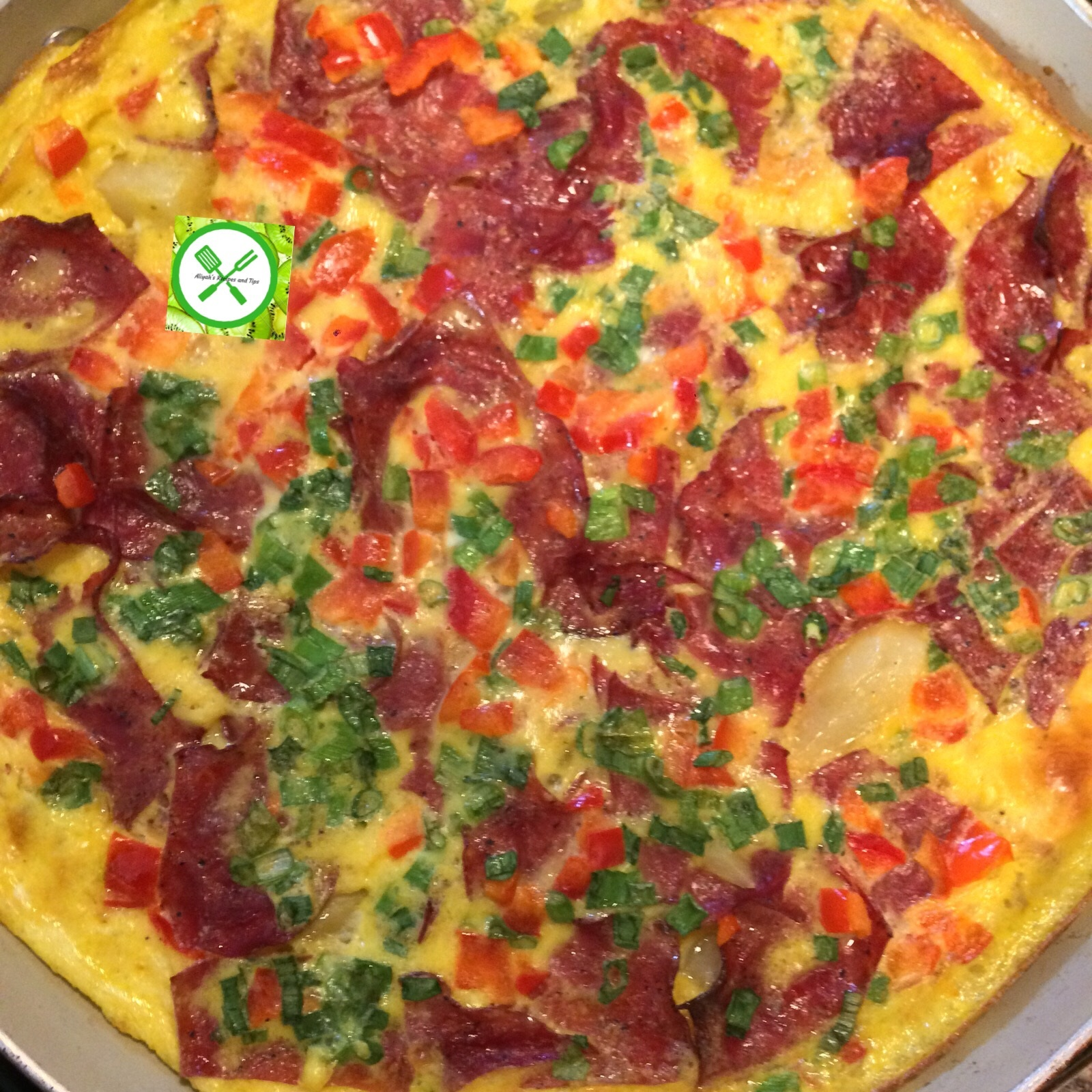 Potatoes and beef omelette