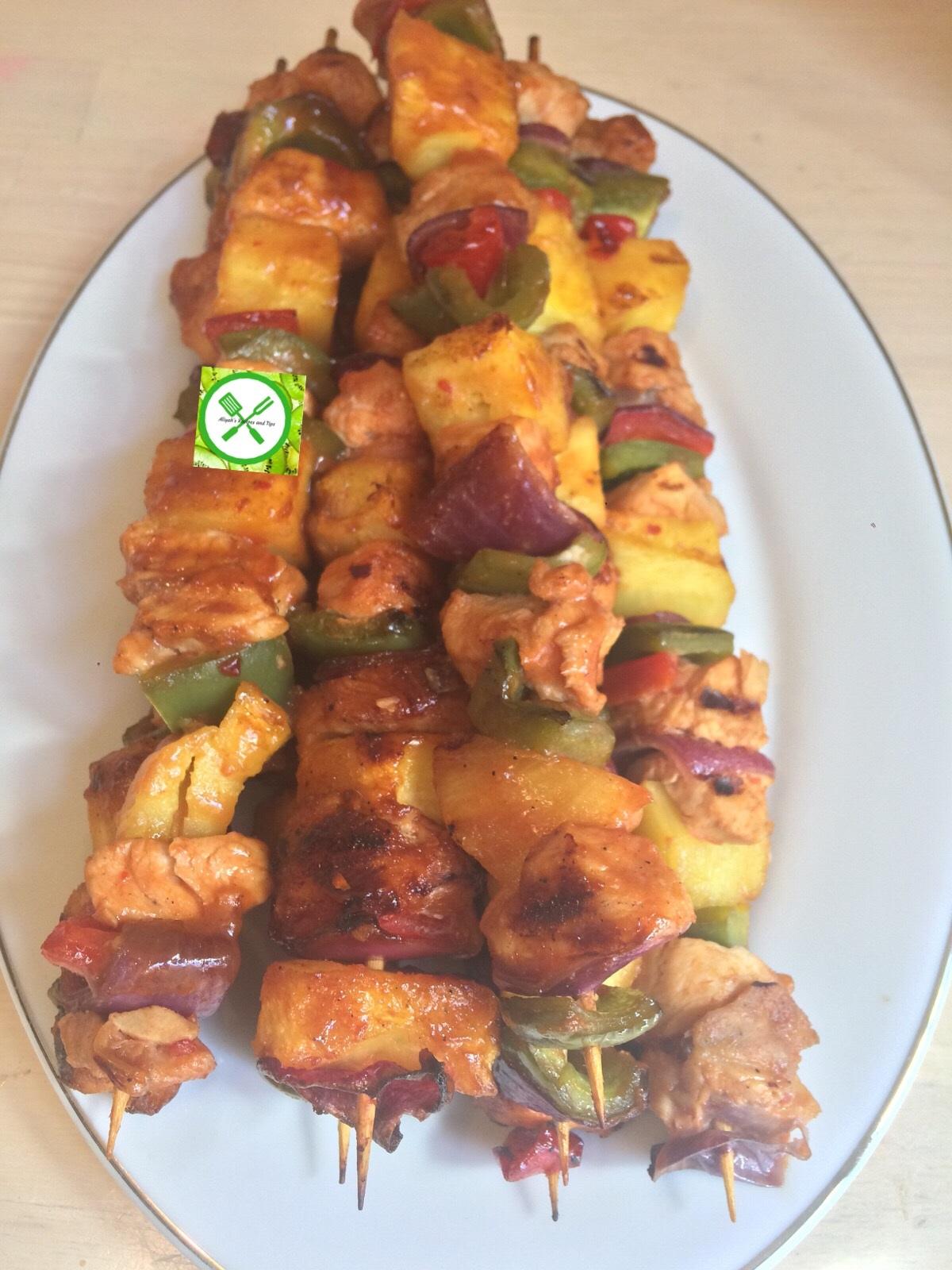 Hawaiian Turkey kebabs