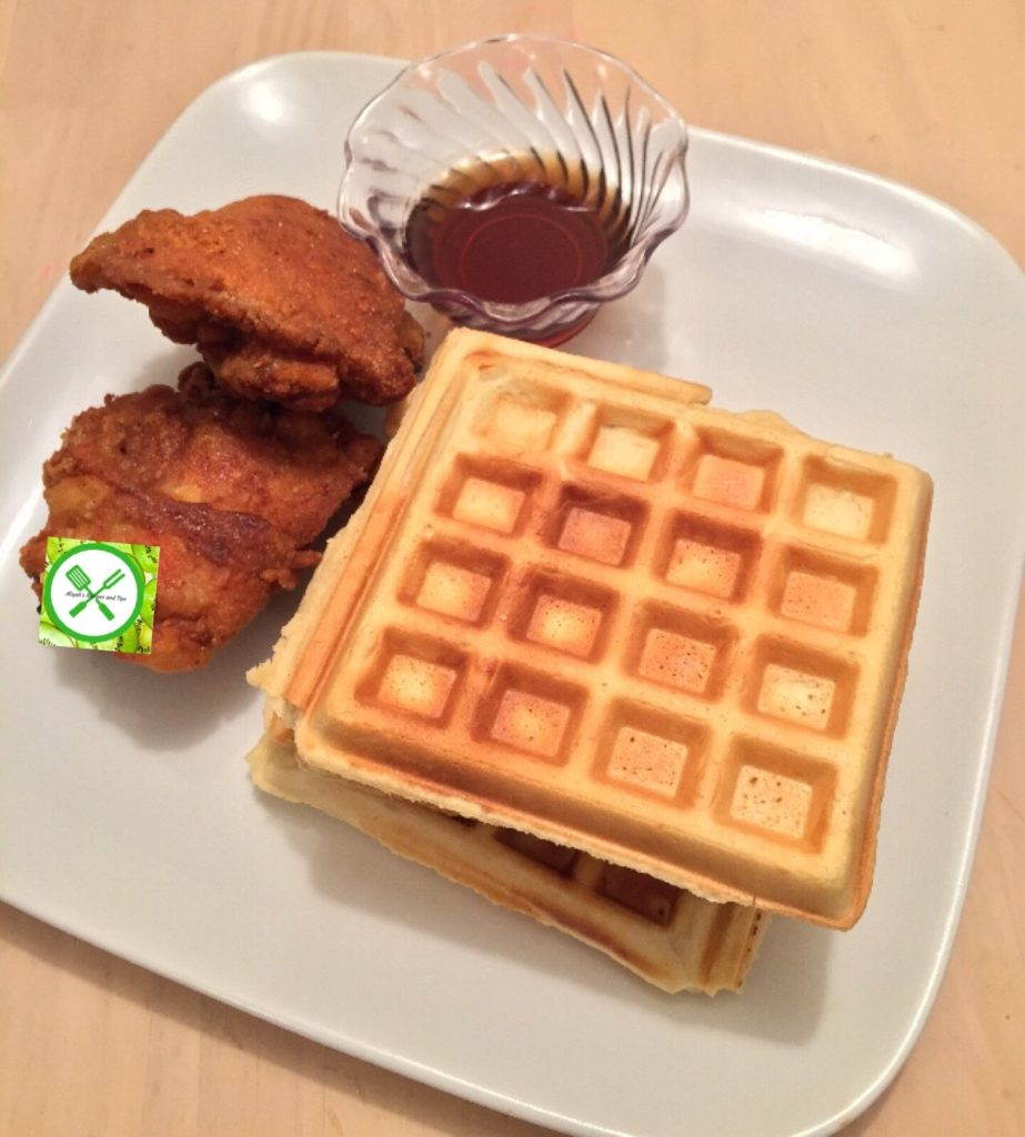 Waffles and chicken
