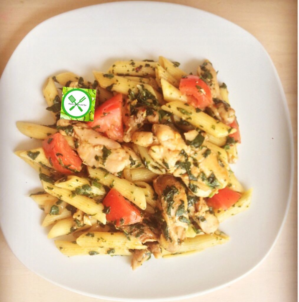 chicken and spinach pasta