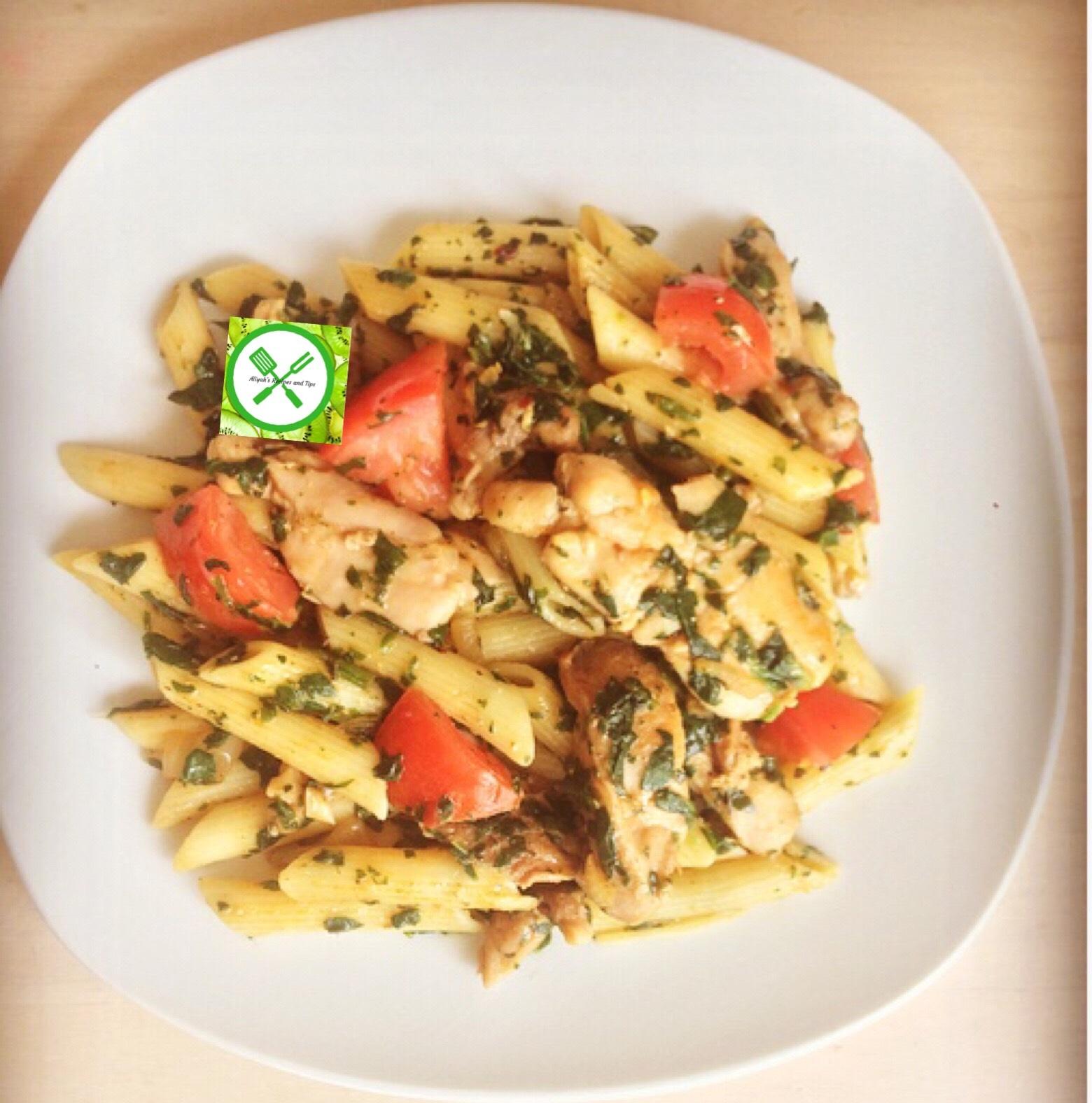 chicken and spinach pasta