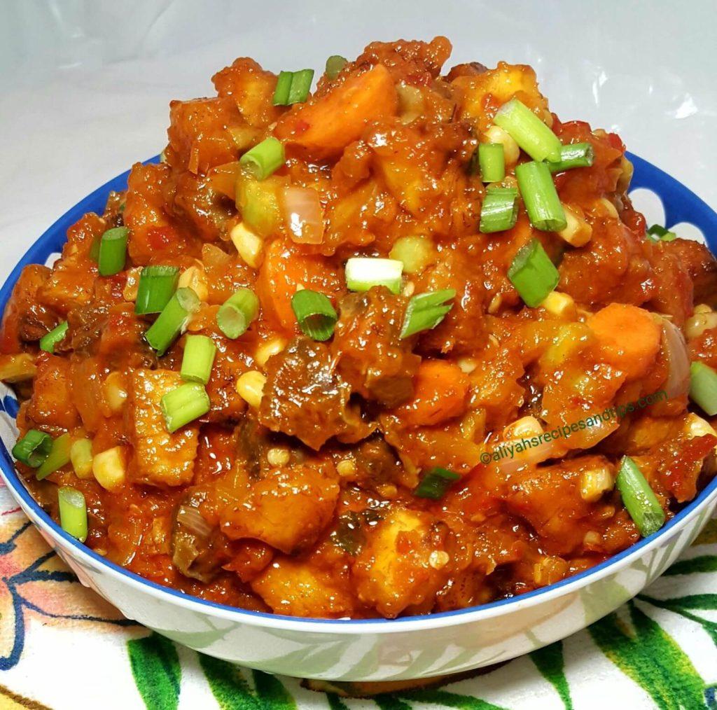 gizdodo, gizzard, Nigerian stew, Gizzard stew with shrimp, African, Nigerian, Gizzard stew with vegetables