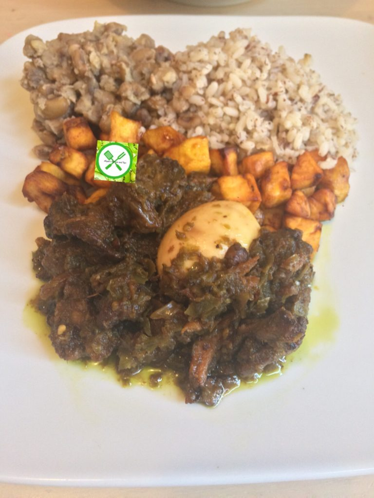 Ayamase-ofada rice stew