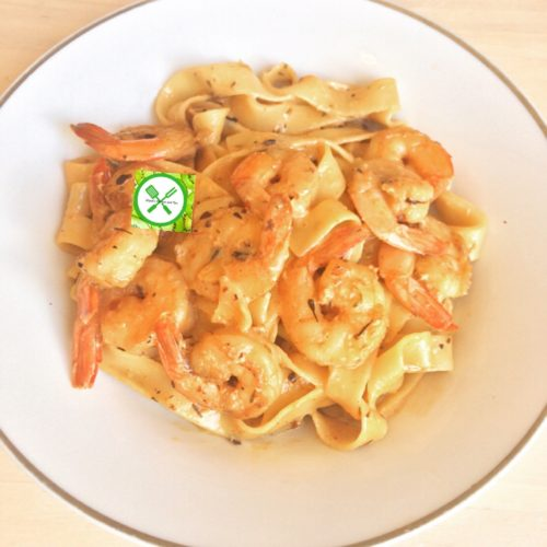 Creamy Fettuccine With Shrimps