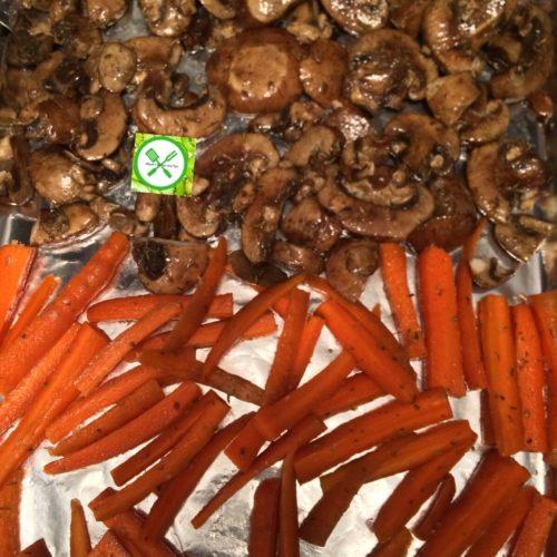 Roasted Mushrooms And Carrots