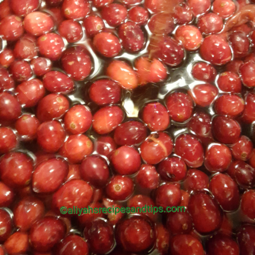 Cranberry conserve with maple syrup