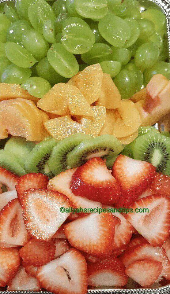 Fruits pizza