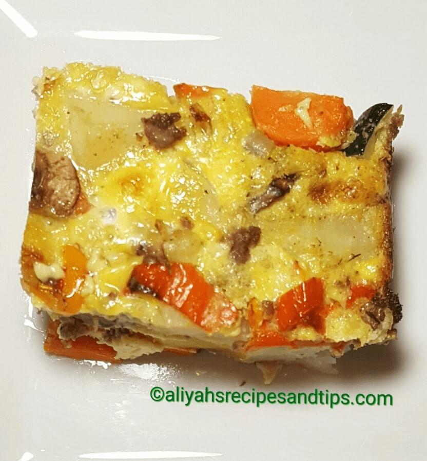 Vegetables Breakfast Casserole