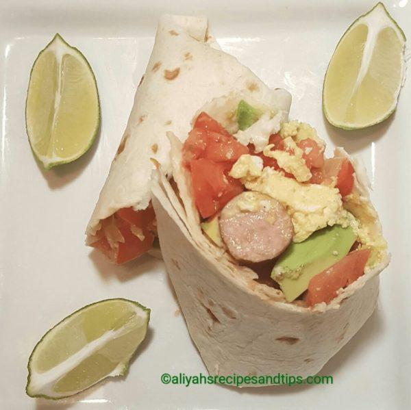 Breakfast burrito, Burrito, How to make burrito, Egg Burrito