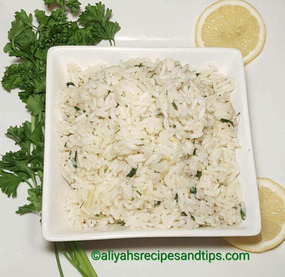 Citrus-herb rice
