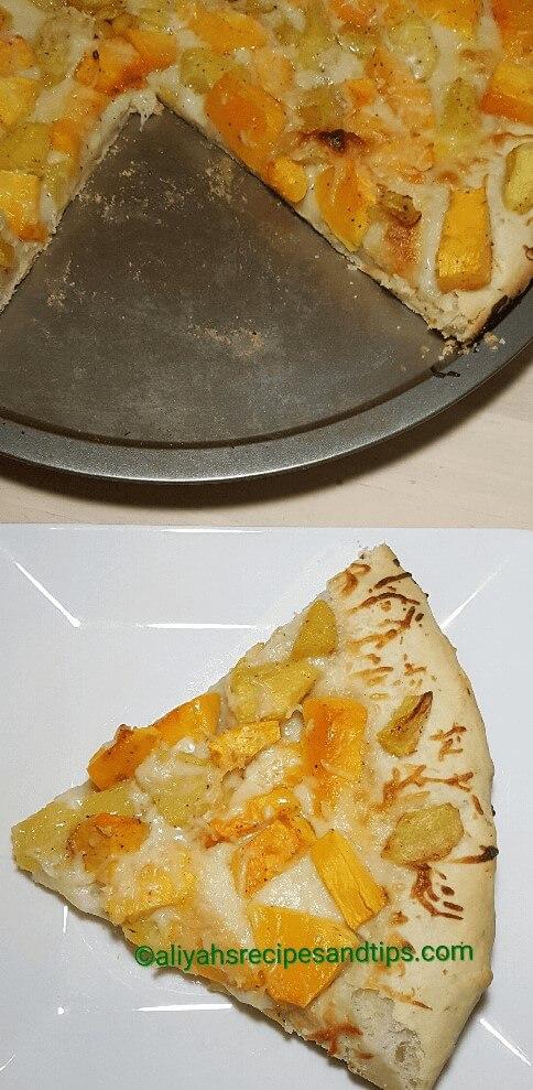 white pizza with squash, Vegetable pizza Pizza dough, Vegetarian butternut squash pizza, how to make white pizza, pizza