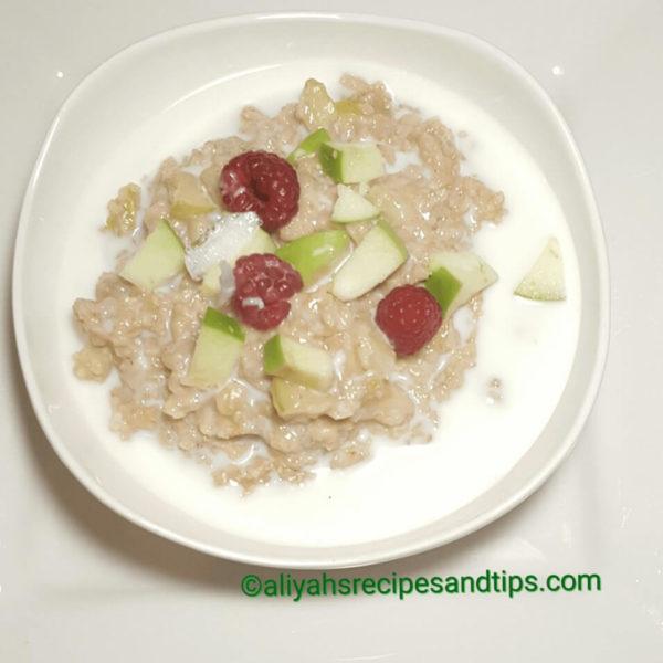 Apple cinnamon oatmeal, how to make oatmeal, breakfast oatmeal, apple and cinnamon oatmeal, Oat, Oatmeal