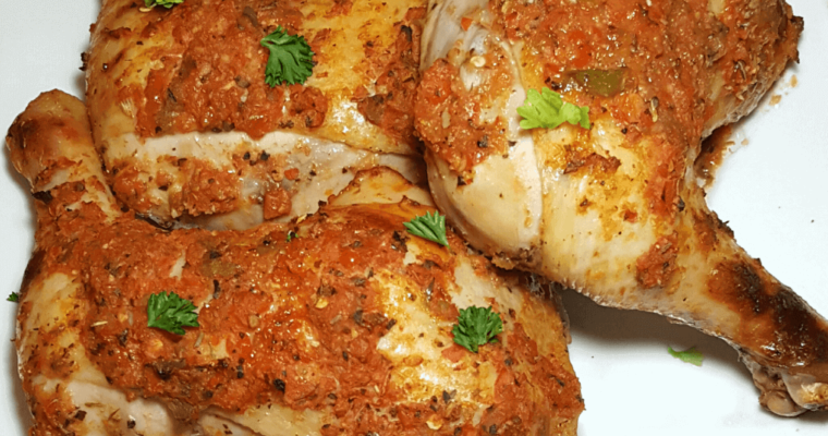 peppered chicken, how to make peppered chicken, how to bake peppered chicken