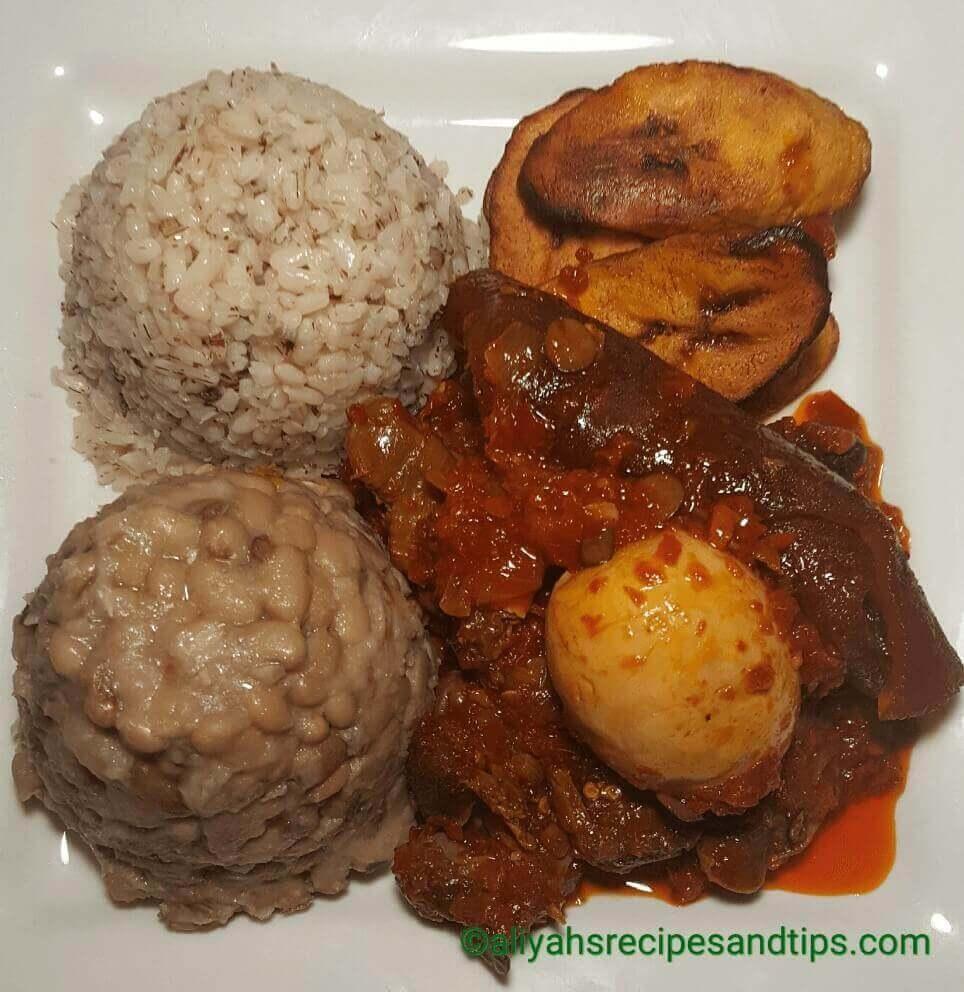 Ayamase stew, Red ayamase stew, Ofada rice stew, Ofada stew, Nigerian Ayamase stew