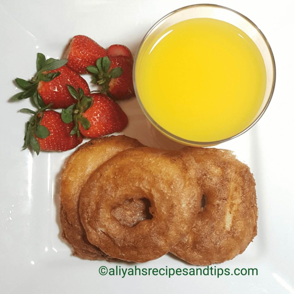 Apple ring fritter, apple ring, apple fritters