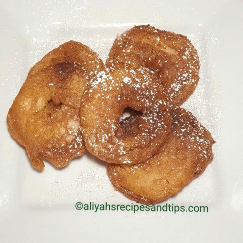 Apple ring fritter, apple ring, apple fritters