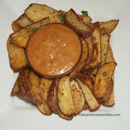 Baked potato wedges, crispy, garlic, oven, potato wedges, baked, oven, homemade potato wedges