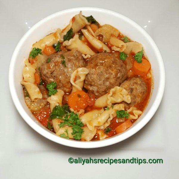 Meatball soup, Italian meatball soup, Soup