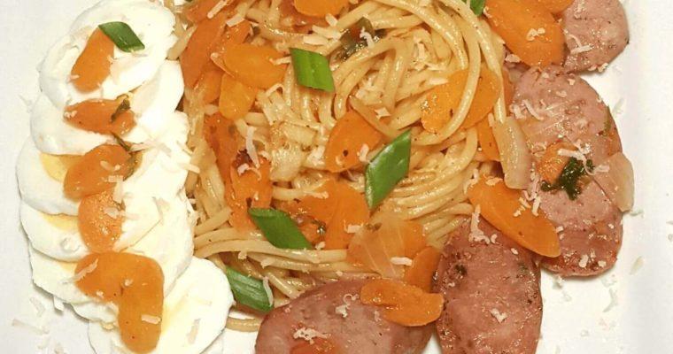 sausage and pasta, sausage, pasta, spaghetti