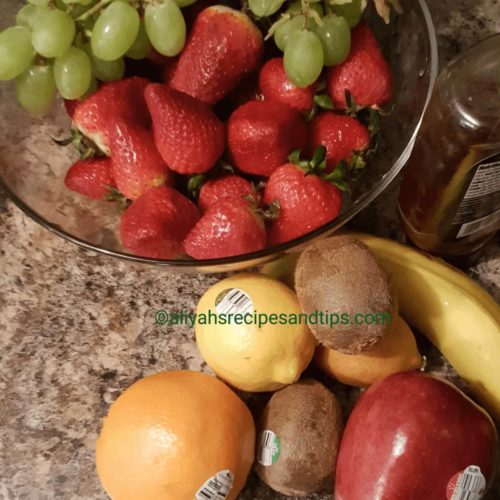 colorful, fruits, fruits salad, honey orange, honey orange fruits salad, honey rainbow, orange glaze, orange sauce, rainbow fruits, salad recipe