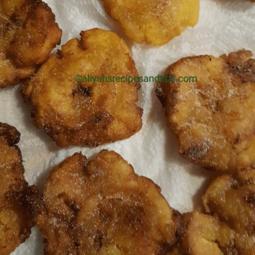 Plantain tostones, fried, sweet, green, Puerto rican plantain, platano, African, Dominican, Dominican plantains