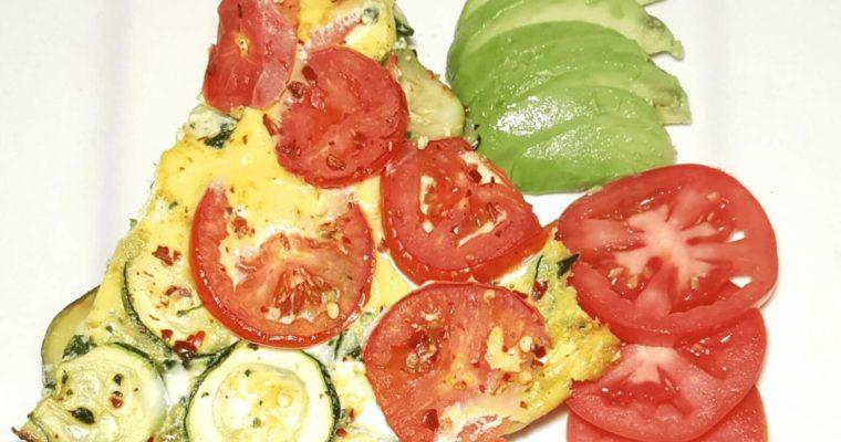 Zucchini frittata, zucchini, frittata, healthy, vegetable, low calorie, summer, vegetarian, easy, zucchini onion frittata