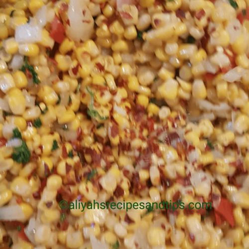 fresh corn, roasted corn, sweet corn, baby corn, cob, salad, pepper salsa, corn salad, crispy corn