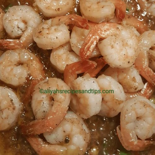 Easy honey shrimp, honey shrimp, stir fry, garlic shrimp,