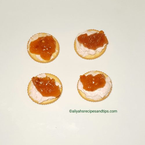 brie, cracker, cream cheese, homemade, jam, jelly, pepper jam jelly, Pepper jelly, spicy, sweet