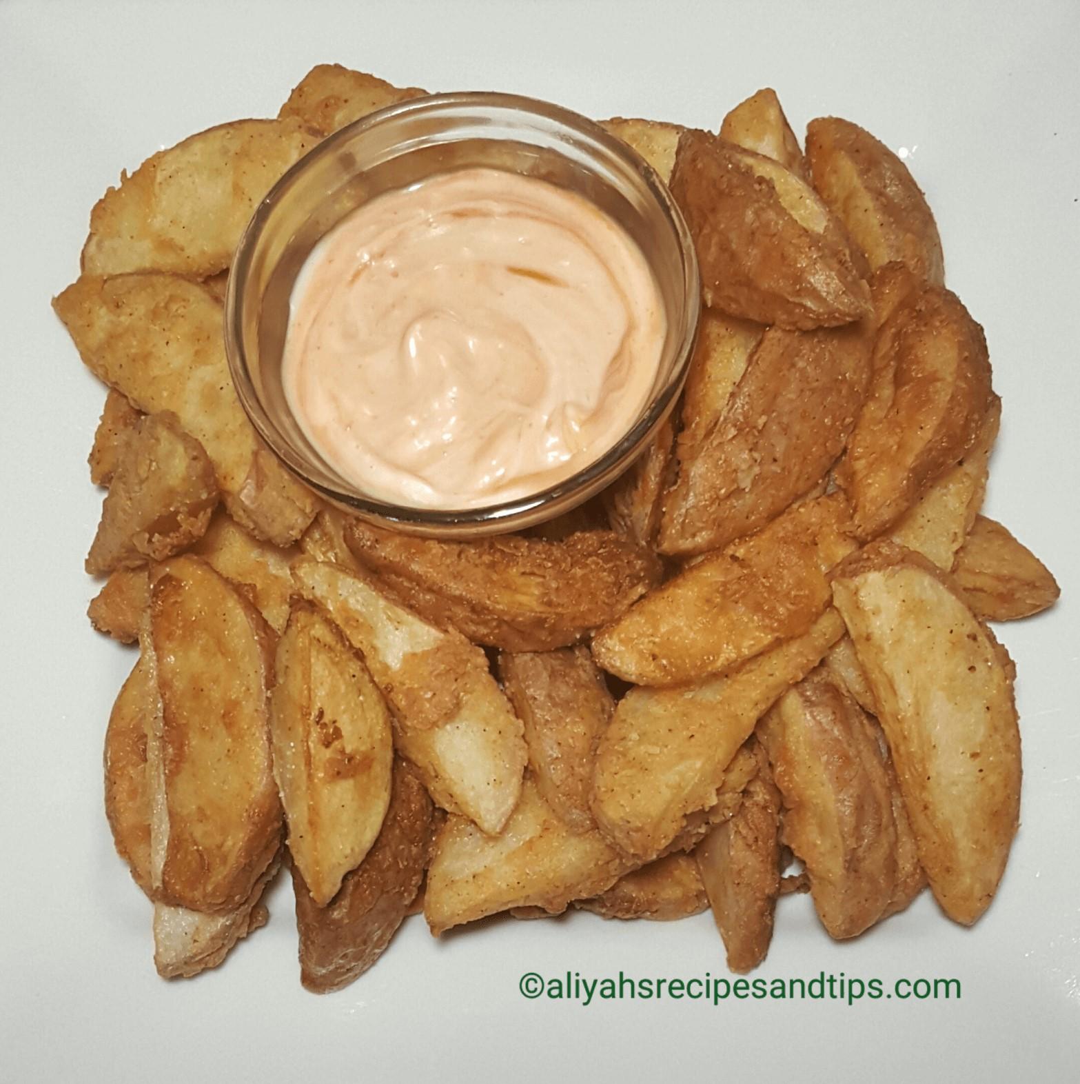 Fried potato wedges, fried, fried potato, garlic potato, crispy potato, kfc crispy potato, crispy fried potato wedges, crispy fried potato, potato, crispy