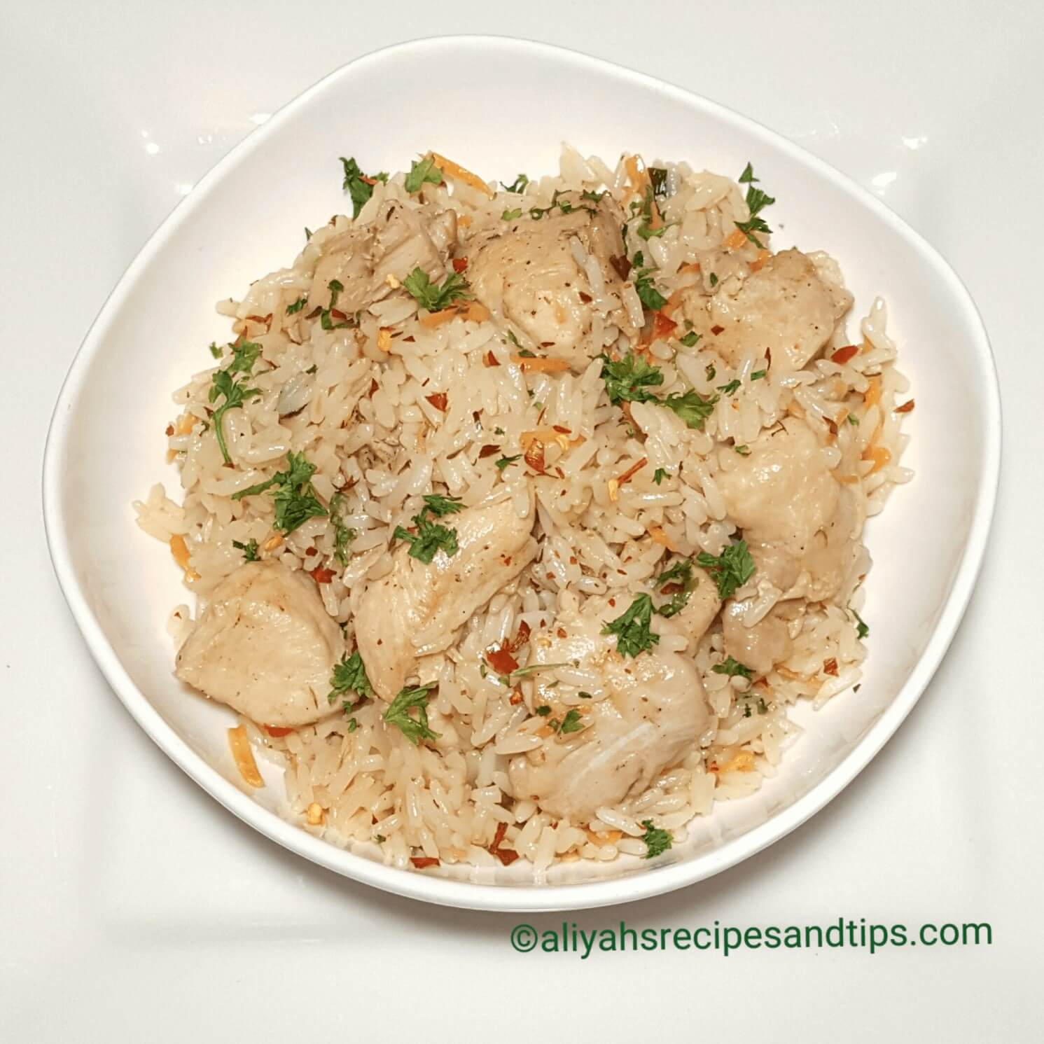 chicken rice, chicken and carrot rice, healthy, one pan, homemade, one pan rice