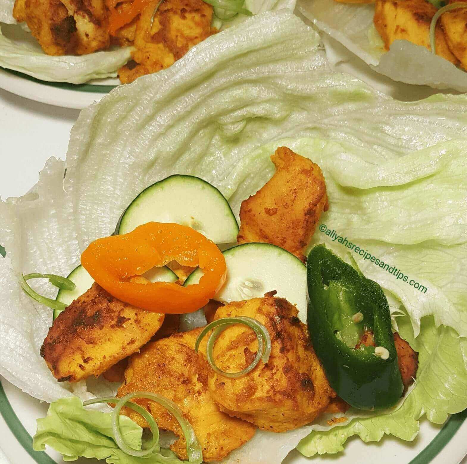 coconut turmeric chicken wrap, chicken wrap, chicken, wrap, coconut turmeric, chicken lettuce, coconut curry, coconut milk, lettuce wrap, chicken salad