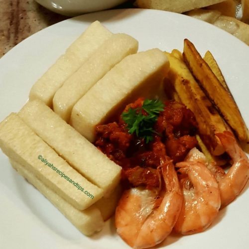 How to make fried yam, fried yam, Dundun, Nigerian fried yam. , sauce, recipe, deep fried, street food, stew, cabbage stew