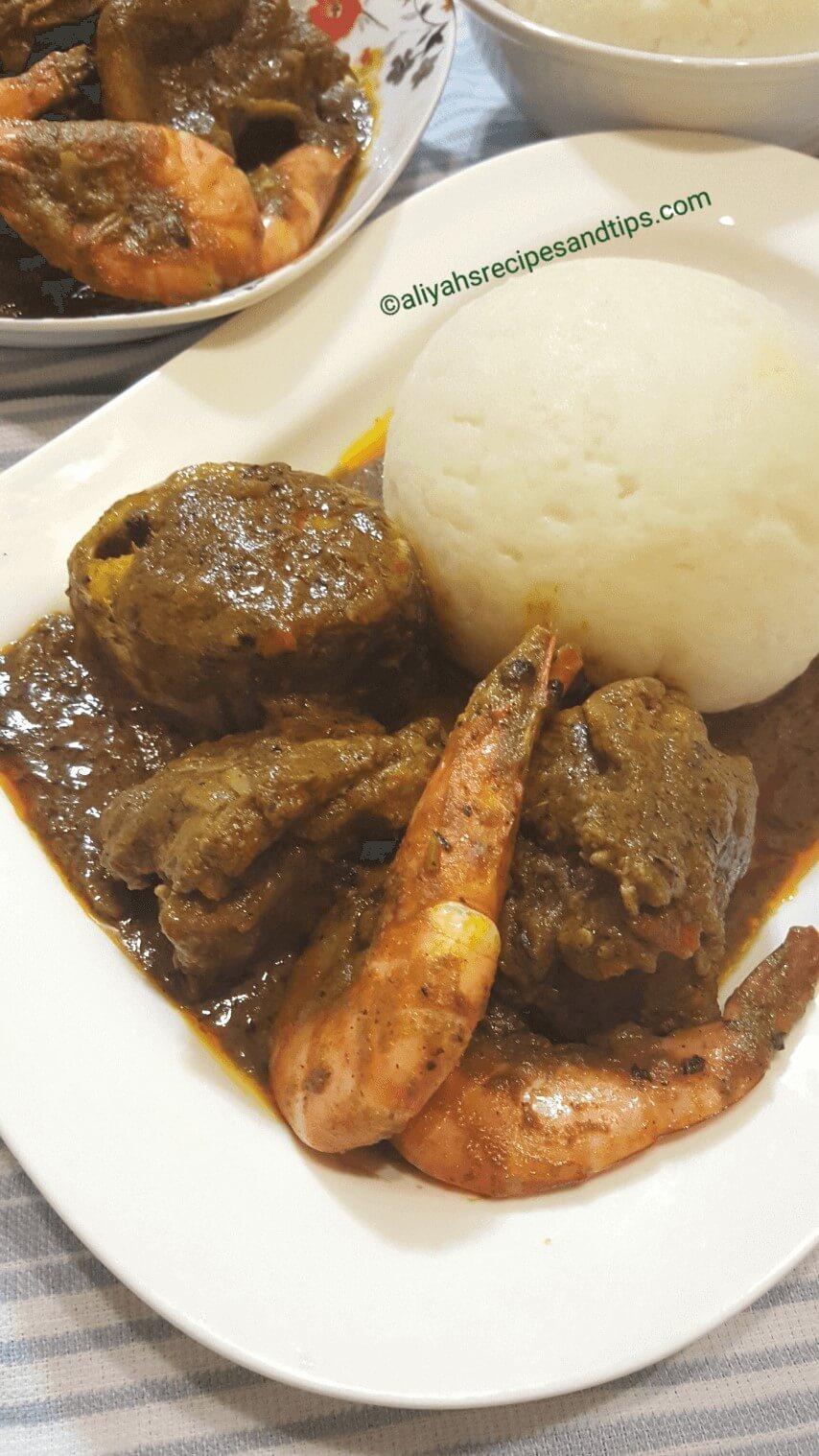 Nigerian soup, soup, Banga soup, Ofe Akwu, Delta soup, Delta Banga Soup, catfish, starch, eba, native, urhobo, fresh fish, periwinkle, spice, ingredients, recipe, Nigerian banga soup, edo, poundo