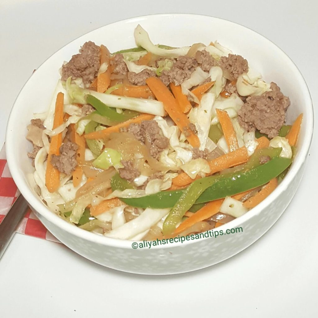 cabbage and beef stir fry, beef and cabbage stir fry, ground beef and cabbage stir, low cab, healthy, shredded cabbage, napa cabbage, Chinese, broccoli, dinner, hamburger
