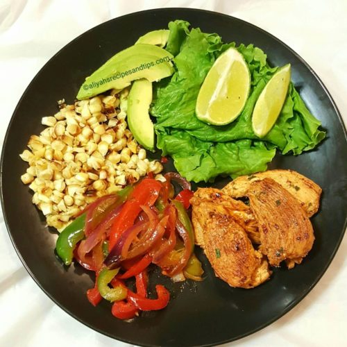 fajitas salad recipe, salad, chili lime fajitas, fajitas seasonin, chicken breast, chili lime chicken fajitas, cilantro limem grilled chicken salad, chicken, low carb,