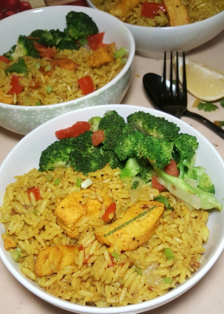 Coconut Curry Chicken with Rice, coconut milk, coconut curry chicken, one pan coconut chicken and rice, coconut chicken curry, one pan Thai coconut yellow curry chicken and sauce, Coconut Curry Chicken with RiceThai, Thai curry sauce, yellow curry recipe, slow cooker, red curry paste, brown rice, curry powder, coconut cream, chicken thighscurried chicken with coconut rice, easy coconut curry chicken recipe,