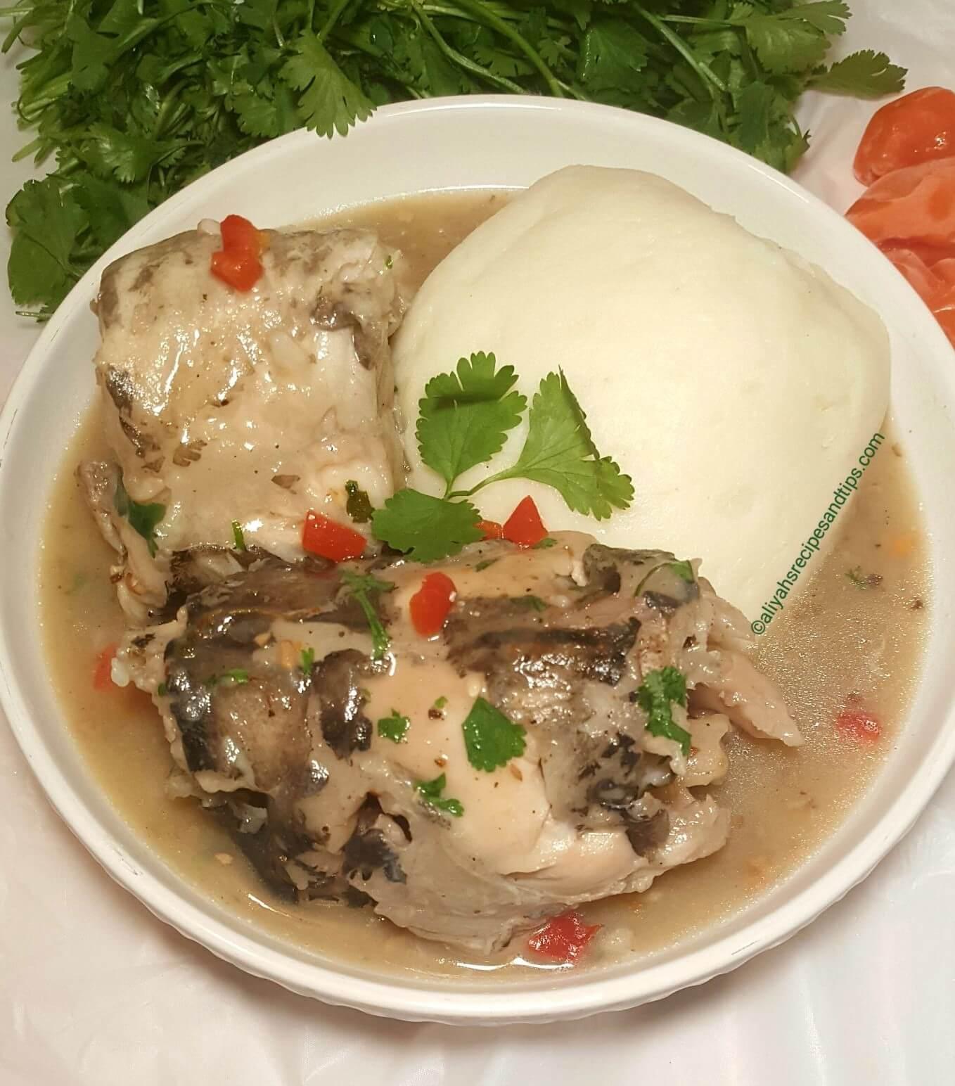 ofe nsala, white soup, ofe nsala white soup, ehuru, calabash nutmeg,Igbo Nigerian,swallow, pepper soup, chicken, food, uziza, fish, stockfish, yam, fufu, African white soup, Nigerian ofe nsala, Nigerian white soup, Igbo ofe nsala, eastern soup, African soup