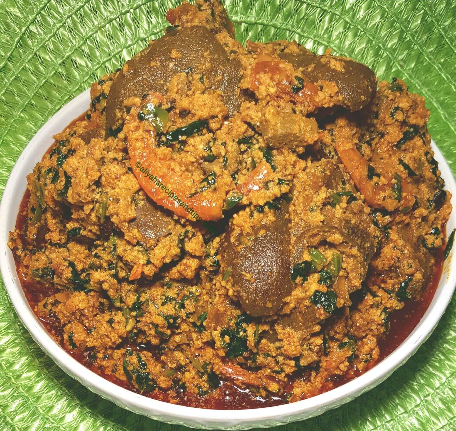 Egusi Soup Frying Method