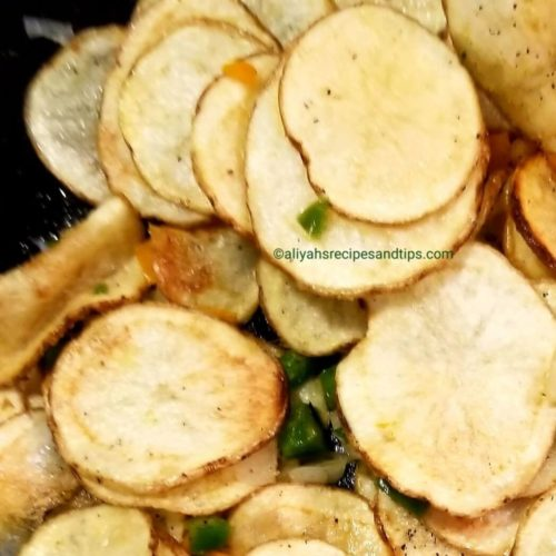 Fried Sliced Potatoes