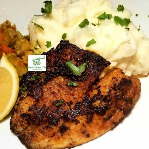 blackened fish, blackened fish, blackened tilapia, salmon, rock n fish, pan, foil, salad, mashed potatoes, sandwich, crawfish side, salsa, shrimp, blackened tilapia fish, fish, easy cajun, tilapia fillet, fillet, tilapia, how to make blackened fish, cod, firm fish, white, fish, whole, cream, cajun, cast iron skillet, grilled, creole, grit, dinner